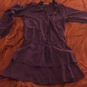 Rebecca Taylor Sz 0 nice flows purple dress mini